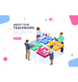 startup website template banner vector image vector image