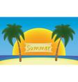 summer in tropics vector image