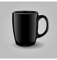Template ceramic clean black mug vector image vector image