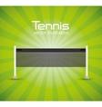 tennis net green bright background vector image