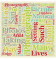 The Art of Organic Photography text background vector image vector image