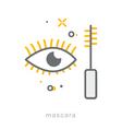 Thin line icons Mascara vector image