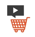 video marketing flat line icons vector image vector image