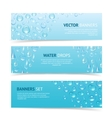 Water Drops Banners vector image