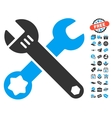 Wrenches Icon With Free Bonus vector image vector image