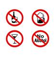 No Alcohol sign icon vector image