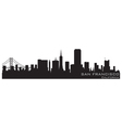 san francisco california skyline detailed silhouet vector image