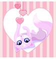 beautiful pink cat vector image