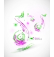 technology music background vector image