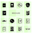 14 brochure icons vector image vector image
