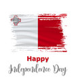 21 september malta independence day background vector image vector image