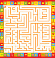 abstract square isolated labyrinth of orange vector image vector image