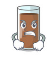 angry fresh chocolate splash on pouring mascot vector image vector image