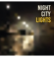 backgrounds blur night city lights vector image vector image
