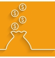 bag of money symbol vector image