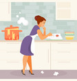 beginner housewife vector image vector image