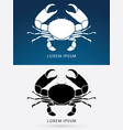 big crab and big pincers vector image vector image