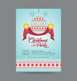 blue hanging christmas ornament postcard vector image
