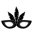 brazil carnival mask feathers pictogram vector image