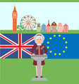 brexit in united kingdom vector image vector image