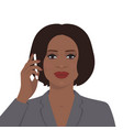 businesswoman talking on the mobile phone vector image vector image