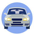 car logo rides in minimalist style cartoon flat vector image