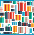 christmas gift boxes seamless pattern pattern vector image