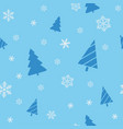 christmas seamless blue background for wrapping vector image vector image