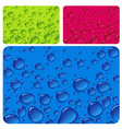 clear water drop color texture vector image vector image