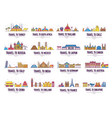 country thin line icons travel vacation guide vector image