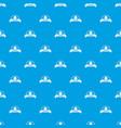 cupcake pattern seamless blue vector image