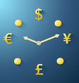Currency time passing vector image vector image