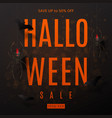 dark background for halloween sale vector image vector image