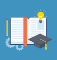 Education learning studying concept Flat design vector image vector image