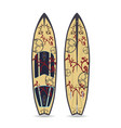 flat of surfing board vector image vector image
