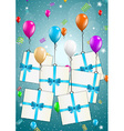 flying balloons with presents vector image vector image