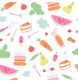 food menu for kids seamess pattern vector image