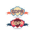 gdpr shield guarding data safety sign vector image vector image