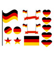 germany flag set collection of symbols flag vector image vector image