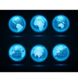 Globe earth night light icons vector | Price: 1 Credit (USD $1)