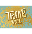 Gold leaf boho chic style thank you greeting card vector image vector image