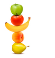 Group of fresh fruit Dieting concept vector image vector image