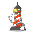 have an idea classic cartoon lighthouse of red vector image
