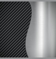 industrial background of metal and carbon fiber vector image