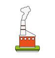 industrial factory symbol vector image vector image