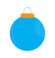 isolated christmas ball icon vector image vector image