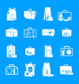 lunchbox food icons set simple style vector image