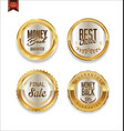 luxury sale golden labels collection 2 vector image vector image