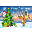 Merry Christmas greeting card santa claus hidden vector image vector image