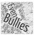 Military Bullying Word Cloud Concept vector image vector image